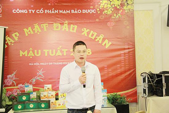 Tổng Giám đốc Công ty CP Nam Bảo Dược Phùng Đức Hoàng phát biểu tại Hội nghị