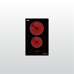 Bếp kính âm 2 điện dạng Domino MDH-02R