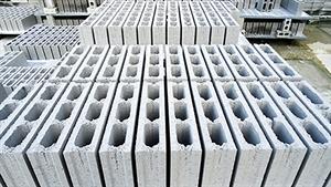 Gạch 3 lỗ ngang, kích thước: 8x18x36 cm