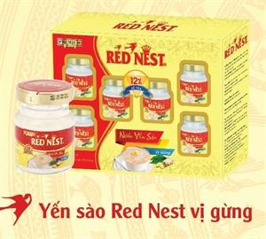 YẾN SÀO RED NEST VỊ GỪNG HỘP 6 LỌ 70ML