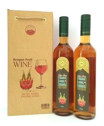 Rượu vang thanh long trắng 500ml (chai tròn)