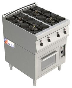 Bếp âu 4 có lò nướng <p>4 open burner</p>