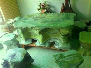 bàn ghế đá nguyên khối độc, đẹp