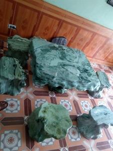 Bàn ghế đá sân vườn nguyên khối
