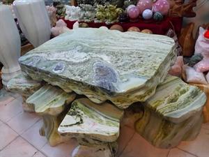 bàn ghế đá xanh ngọc