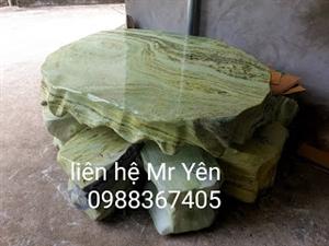 bàn ghế đá ngọc tự nhiên nguyên khối