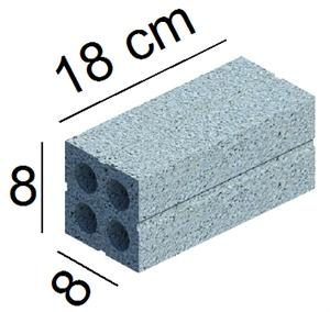 Gạch 8x8x18cm 4 lỗ