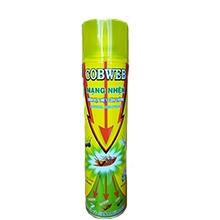 Bình xịt diệt côn trùng Cobweb 600ml vàng (hương hoa)