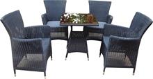 Bộ Ghế Diana dây tròn + bàn MiSa
