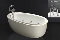 Bồn tắm chân yếm CAESAR AT6480