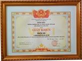 Doanh nghiệp tư nhân SD nhận giấy khen của Phòng TM và CN Cần Thơ