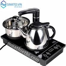 Bộ bàn trà + Ấm trà+ Khay trà đôi điện siêu tốc