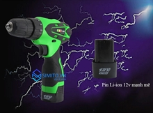 Máy khoan điện cầm tay Lixin 12V - 01 pin new2018