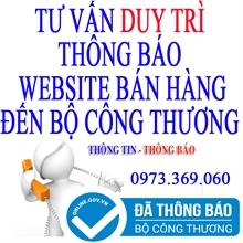 Dịch vụ duy trì thông báo website thương mại điện tử bán hàng