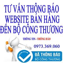 Thông báo web thương mại điện tử bán hàng