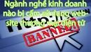 Những ngành nghề kinh doanh nào bị cấm sử dụng website thương mại điện tử