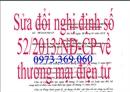 Sửa đổi một số điều của Nghị định số 52/2013/NĐ-CP về thương mại điện tử