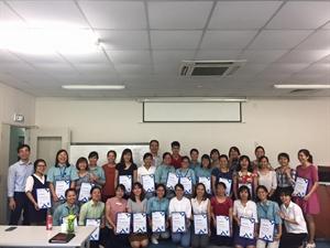 Bế giảng khóa đào tạo tại Panasonic