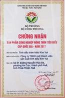 Tinh dầu tràm Huế Kim Vui được bình chọn là sản phẩm công nghiệp nông thôn tiêu biểu cấp quốc gia 2017