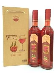 Rượu vang thanh long đỏ 500ml (chai tròn)