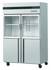Tủ lạnh 4 cánh, 2 cánh kính trên