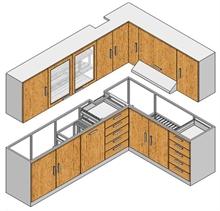 Hệ thống tủ bếp cho gia đình