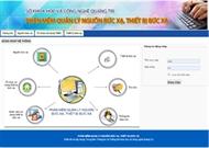 Phần mềm quản lý nguồn bức xạ, thiết bị bức xạ