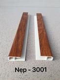Nẹp kết thúc PVC 3-001 (3 X 1.3 X 0.2)cm