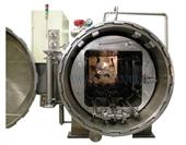 NỒI TIỆT TRÙNG HƠI NƯỚC KIỂU QUAY 4 XE CYF-SR-1300-4