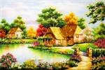 Tranh đá quý ngôi nhà hạnh phúc