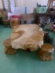 bộ bàn ghế đá hoa văn tự nhiên