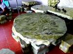 Bộ bàn đá ngọc xanh tự nhiên