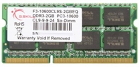 G.Skill DDR3 2GB - Bus 1333Mhz Notebook