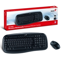 Genius Wireless Multimedia Keyboard Mouse 8000 - USB