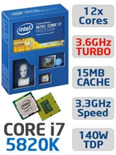 CPU INTEL CORE i7 5820K 3.3Ghz 15MB