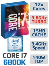 CPU INTEL CORE i7 6800K 3.4Ghz 15MB