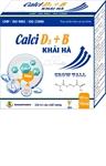 CALCI D3+B KHẢI  HÀ