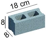 Gạch 8x8x18cm 2 lỗ