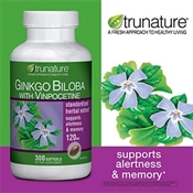 Ginkgo Biloba with Vinpocetine của Trunature, USA