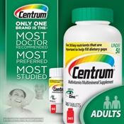Thực phẩm chức năng bổ sung khoáng chất, vỉtamins Centrum® Adults Under 50, 425 Tablets
