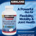 Thực phẩm chức năng Kirkland Signature™ Glucosamine with MSM, 375 Tablets - Hàng xách tay từ Mỹ