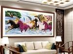 Tranh đá quý Mã Đáo Thành Công ( 60 x 90 )
