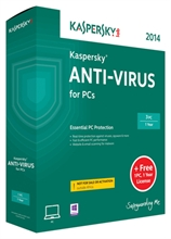 Kaspersky Anti-Virus 2015 for PCs (3 PCs)