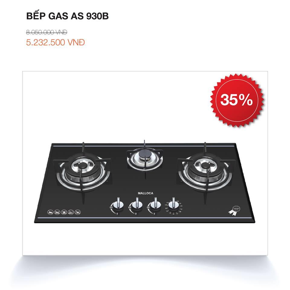 Bếp kính âm 3 gas AS 930B