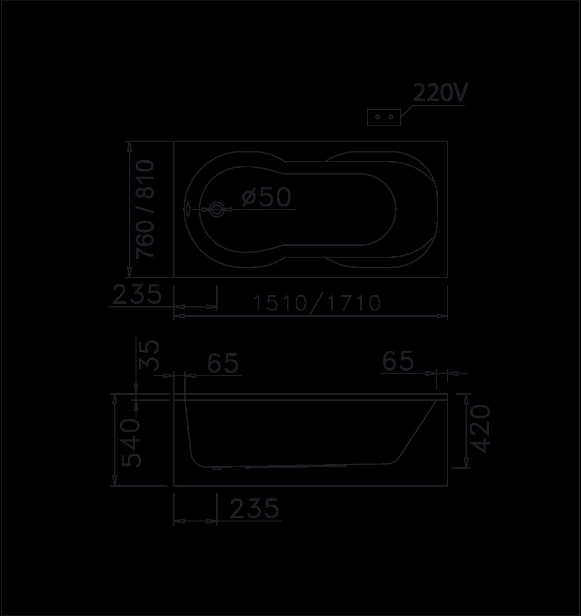 bản vẽ bồn tắm caesar MT0370