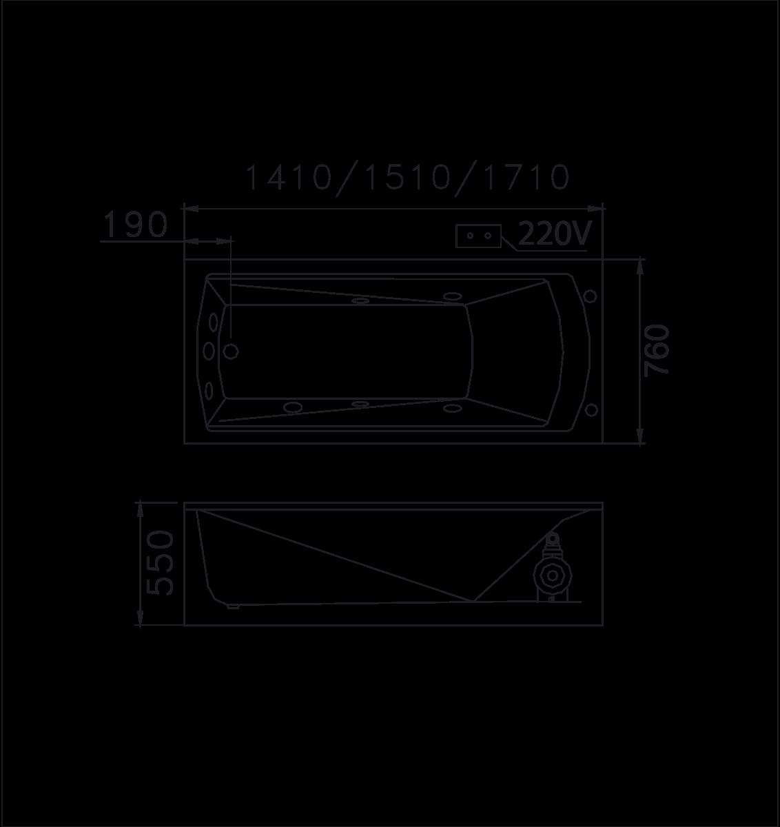 bản vẽ bồn tắm caesar MT0650