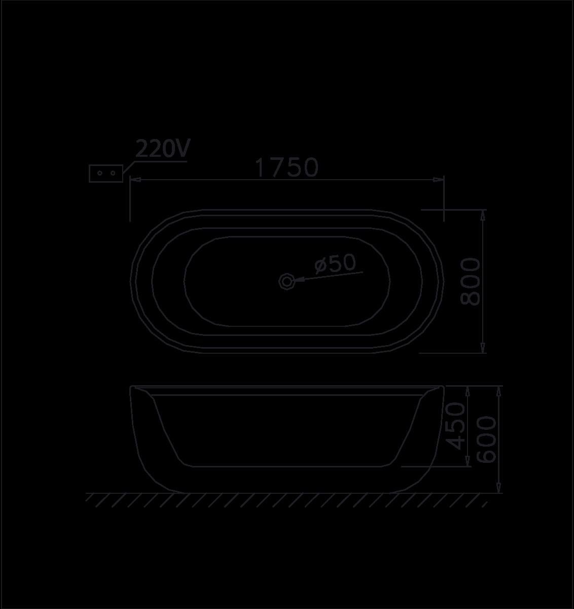bản vẽ bồn tắm caesar MT0770