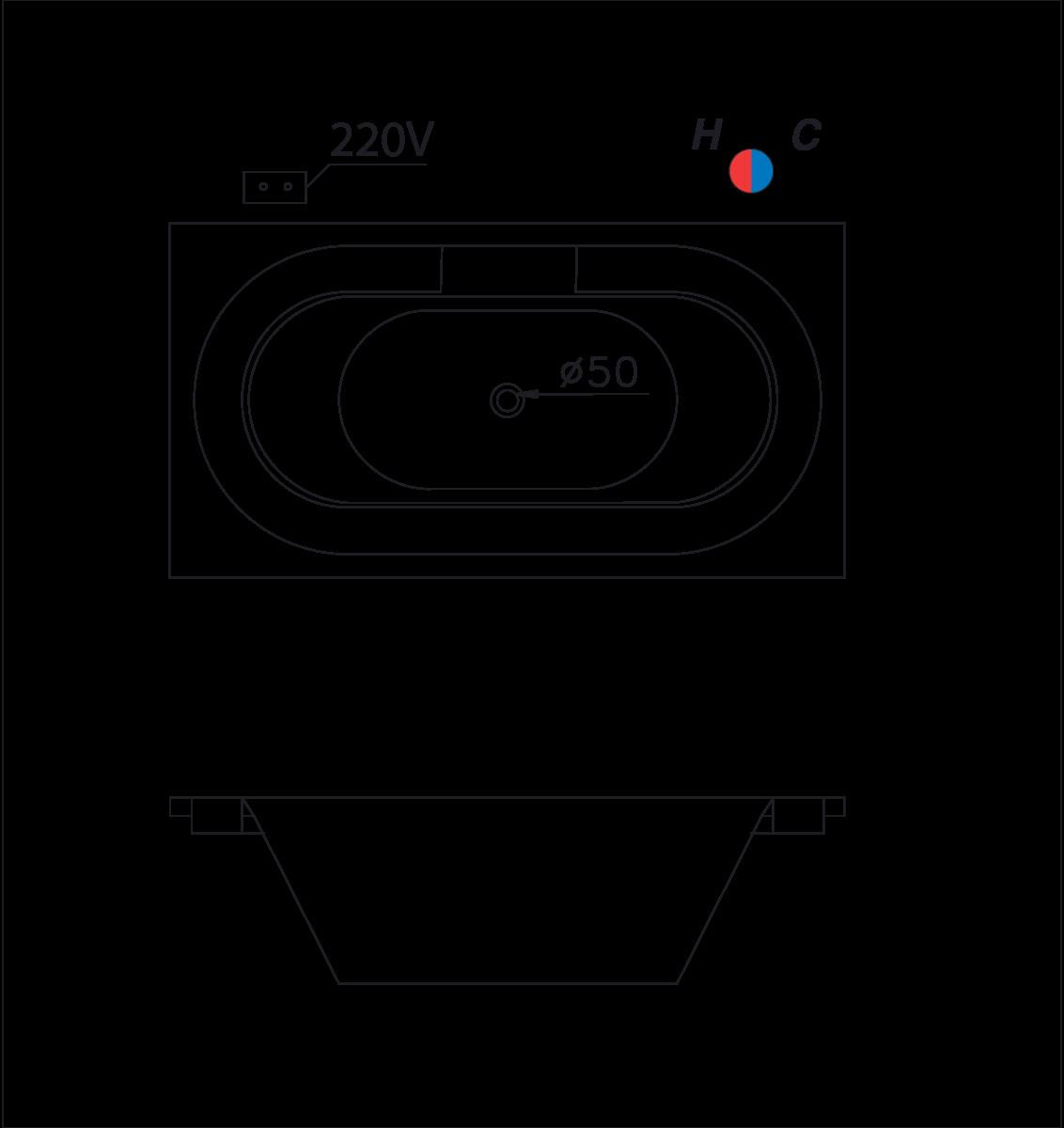bản vẽ bồn tắm caesar MT212