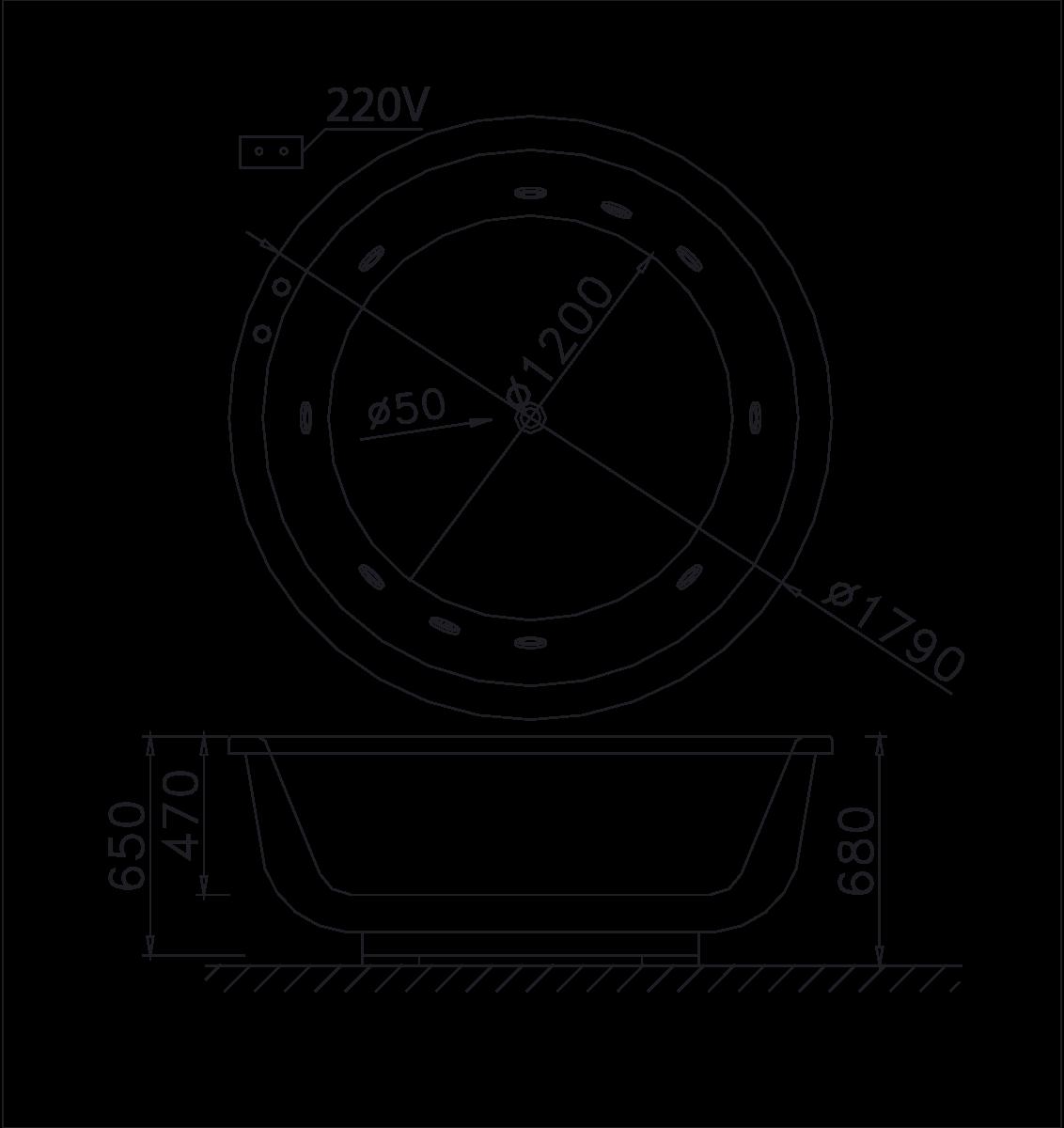 bản vẽ bồn tắm caesar MT6470