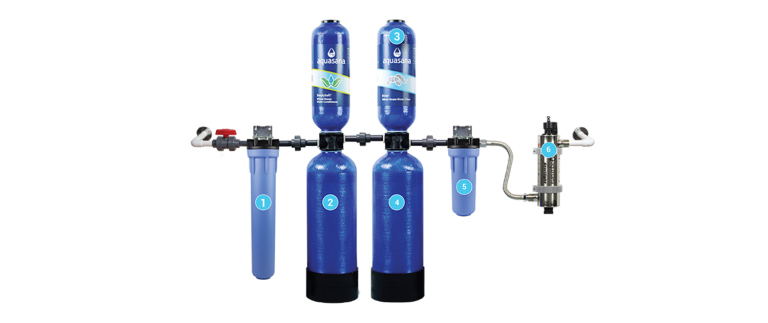 sơ đồ lõi lọc hệ thống lọc nước đầu nguồn aos